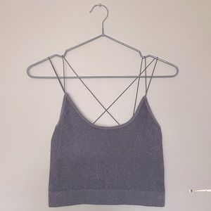 UO Out From Under Grey Markie Seamless Bra Top!
